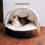 MU0018 ที่นอนแมวอบอุ่น หนานุ่ม Half the roof arch cat litter