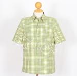 เสื้อสูทผ้าฝ้ายลายสก็อต สีเขียว ไซส์ S
