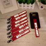พวงกุญแจ Name Tag สะท้อนแสง BTS -ระบุสมาชิก-