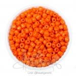 ลูกปัดเม็ดทราย 6/0 โทนด้าน สีส้ม (100 กรัม)