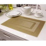 แผ่นรองจาน High grade PVC table mat สี Gold ขนาด 30 x 45 cm จำนวน 4 แผ่นต่อ 1 ชุด