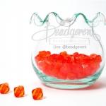คริสตัลพลาสติก 8มิล สีส้มเข้ม (500 กรัม)