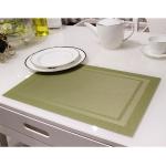 แผ่นรองจาน High grade PVC table mat สี Green ขนาด 30 x 45 cm จำนวน 4 แผ่นต่อ 1 ชุด