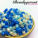 เม็ดบีทรีดร้อนโทนสีฟ้า ขนาด5มิล (15 กรัม)