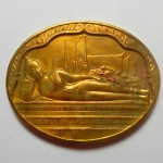 เหรียญพระนอนปางไสยาสน์ วัดโพธิ์ หลัง ภปร. มหามงคลเฉลิมพระชนมพรรษาครบ 5 รอบ 5 ธันวาคม ปี 2530