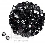 เลื่อมจาน 8มิล สีดำ (120 กรัม)