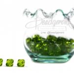 คริสตัลพลาสติก 8มิล สีเขียวใบไม้ (500 กรัม)