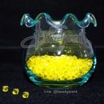 คริสตัลพลาสติก 4มิล สีเหลือง (500 กรัม)