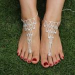 สร้อยข้อเท้า anklets เพชรใบไม้ประดับเจ้าสาว เกาหลี