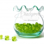 คริสตัลพลาสติก 8มิล สีเขียว (500 กรัม)