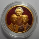 เหรียญในหลวง ร.๙ - ร.๘ - สมเด็จย่า ปี 2543 พิมพ์เล็ก ที่ระลึกพระราชานุสาวรีย์ฯ เนื้อสามกษัตริย์