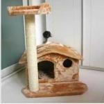 คอนโดแมว บ้านแมวชั้นเดียว ที่ลับเล็บแมว สูง 65cm