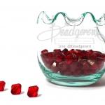 คริสตัลพลาสติก 8มิล สีแดง (500 กรัม)