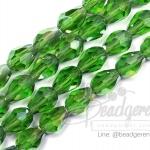 คริสตัลโมดาร์ 6x9มม. ทรงหยดน้ำ สีเขียวเข้ม (70 เม็ด)