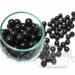 ลูกปัดมุกพลาสติก 10มิล สีดำ (120 กรัม)