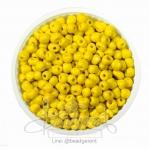 ลูกปัดเม็ดทราย 6/0 โทนด้าน สีเหลือง (100 กรัม)