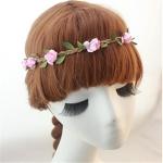 สายรัดผม เกาหลี ดอกไม้ชมพูอ่อน Light pink