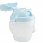 KK-14 ถ้วยหัดดูดหลอด Kido Straw Cup Step 3 (9 เดือน+) สีฟ้า