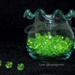คริสตัลพลาสติก 6มิล สีเขียวอ่อน (500 กรัม)