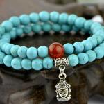 สร้อยข้อมือวินเทจ Tibetan turquoise string SL045