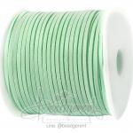 เชือกหนังซามัวร์ 3มม. สีเขียวมิ้นท์ (100 หลา)