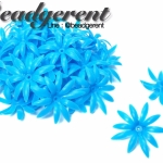 ดอกพิกุลพลาสติก 35มม. สีฟ้า (10 กรัม)
