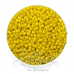 ลูกปัดเม็ดทราย 8/0 โทนด้าน สีเหลือง (100 กรัม)