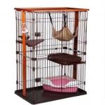 กรงแมว style Condo มีหลายชั้น บ้านแมว กรงสัตว์เลี้ยง เป็นทั้งบ้านที่นอน ห้องอาหาร ห้องน้ำสำหรับสัตว์เลี้ยง ประกอบง่าย มี 2 ขนาด