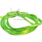 เชือกหางหนู 2มม. สีเขียวตอง (1 หลา)