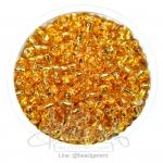 ลูกปัดเม็ดทราย 6/0 สีทอง (100 กรัม)