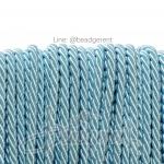 เชือกเกลียว 5มม. สีฟ้าพาสเทล (18 หลา)