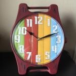 นาฬิกาตั้งโต๊ะวินเทจ สีแดง