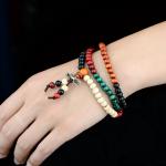 สร้อยข้อมือวินเทจ SL267 multi-colored beads