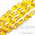 คริสตัลโมดาห์ 8x12มม. ทรงหยดน้ำ สีเหลืองทอง (60 เม็ด)