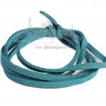 เชือกหนังซามัวร์ 3มม. สีน้ำทะเล (1 หลา)