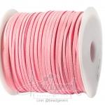 เชือกหนังซามัวร์ 3มม. สีชมพูอ่อน (100 หลา)