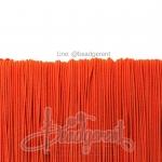 ยางยืด เส้นกลม 1มม. สีส้ม (144 หลา)