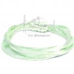 เชือกหางหนู 2มม. สีเขียวพาสเทล (1 หลา)