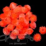 ดอกบานไม่รู้โรย พลาสติก 13*15มม. สีส้ม (10 กรัม)