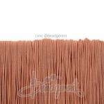 ยางยืด เส้นกลม 1มม. สีส้มพาสเทล (144 หลา)