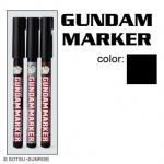 GM301-P Gundam Marker Extra Thin Type ปากกาหัวพู่กัน สีดำ