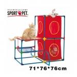 MU0033 อุโมงค์แมว ของเล่นแมว ออกกำลังกาย SportPetDIY