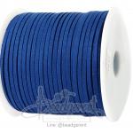 เชือกหนังซามัวร์ 3มม. สีน้ำเงิน (100 หลา)