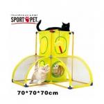 MU0037 อุโมงค์แมว ของเล่นแมว ออกกำลังกาย ทรงปิรามิด Play Plalace Sport Pet DIY