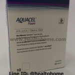 D008 Aquacel Foam Non-adhesive แผ่นแปะแผลกดทับ 10x10 cm x10 ชิ้น (ยกกล่อง)