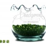 คริสตัลพลาสติก 4มิล สีเขียวเข้ม (500 กรัม)