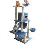 MU0069 คอนโดแมวห้าชั้น ขนาดใหญ่ ต้นไม้แมว มีบ้านอุโมงค์ เปลนอน กระบะนอน ของเล่นแขวน บันได สูง 155 cm