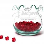 คริสตัลพลาสติก 6มิล สีแดง (500 กรัม)
