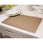 แผ่นรองจาน High grade PVC table mat สี light coffee ขนาด 30 x 45 cm จำนวน 4 แผ่นต่อ 1 ชุด