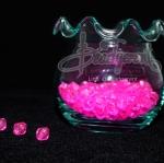 คริสตัลพลาสติก 6มิล สีชมพูเข้ม (500 กรัม)